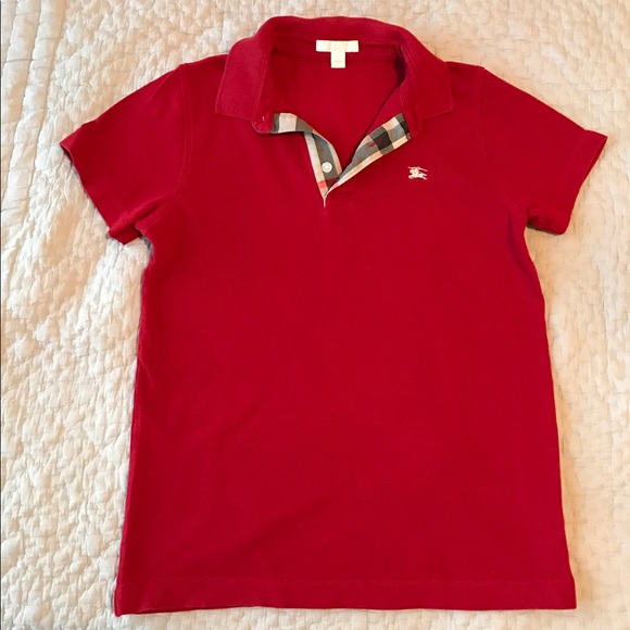 c8fc24b5b Burberry Other - Burberry Children Boys Red Polo 14